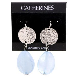 3/$20 Catherines silver and clear blue earrings